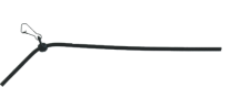 Hoekafhouder zwart 5 cm