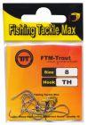 FTM Forel vishaken voor foreldeeg, wasmotten of meelwormen